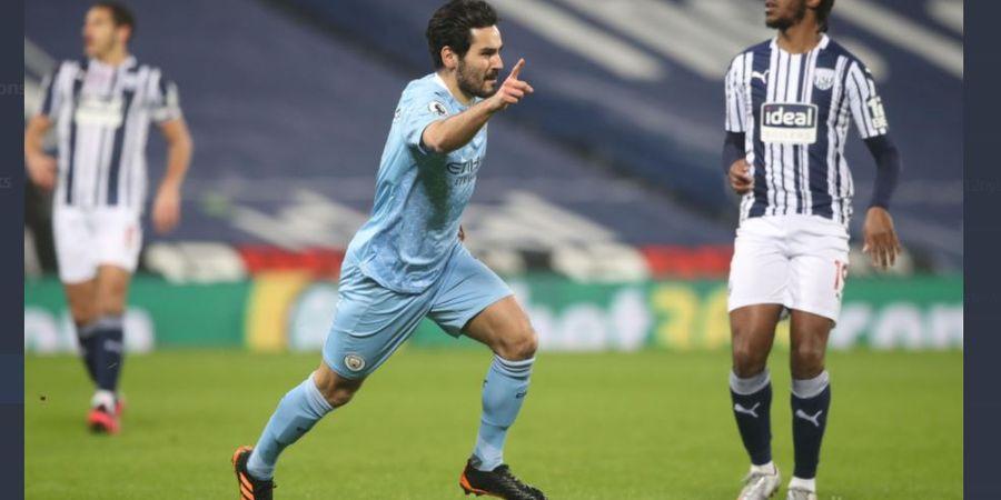 Hasil Liga Inggris - Man City Bantai West Brom 5-0, Geser Man United di Puncak