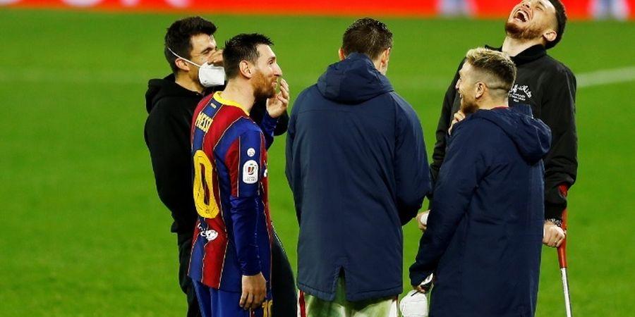 Terungkap! Ini yang Dibicarakan Messi dengan Para Pemain Sevilla
