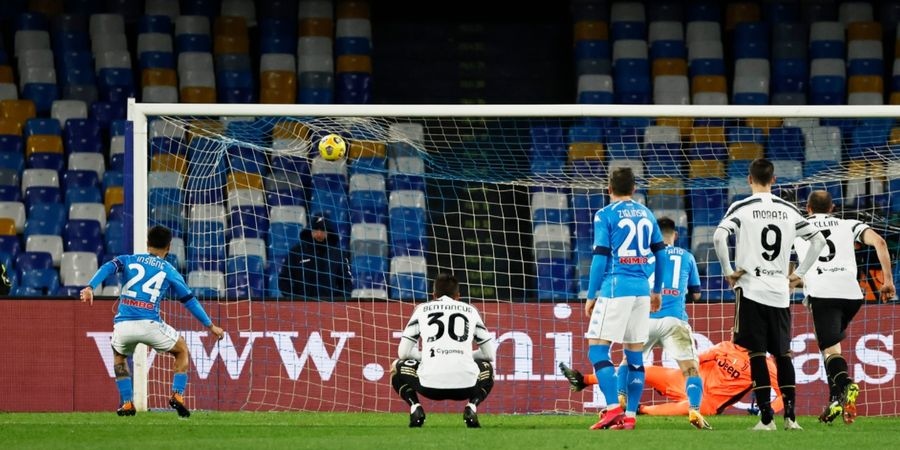 Babak I Liga Italia - Insigne Cetak Gol ke-100, Juventus Tertinggal 0-1 dari Napoli