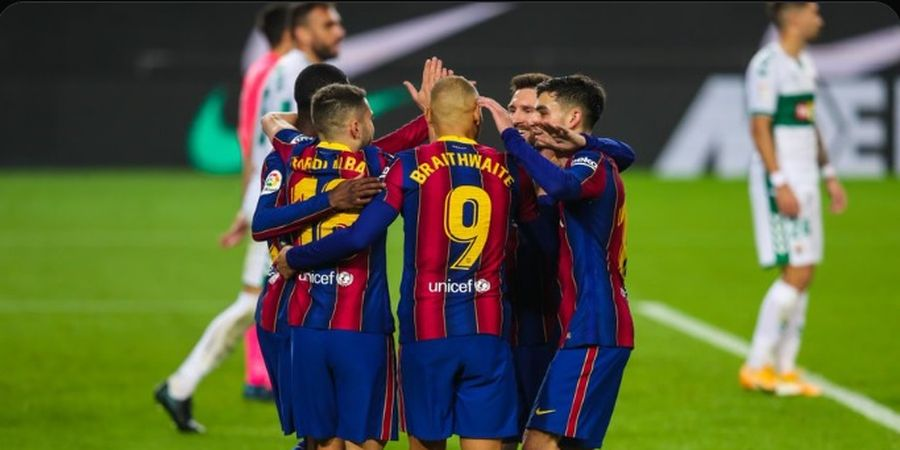 Jaga Rekor Tak Terkalahkan, Barcelona Terlalu Perkasa Bagi Elche