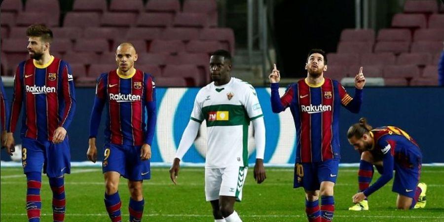 Gestur Lionel Messi Turut Andil dalam Kemenangan Barcelona atas Elche