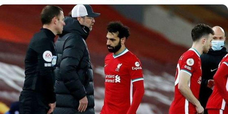 Misteri Teriakan Klopp untuk Mohamed Salah Sebelum Diganti dan Cuitan Sang Agen yang Picu Drama