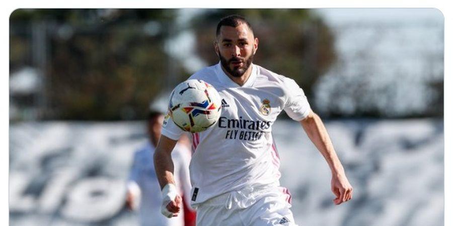 Hasil Liga Spanyol - Karim Benzema Jadi Pahlawan, Sergio Ramos Dapat Perlakuan Mirip Mohamed Salah