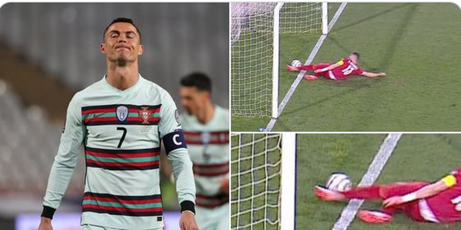 Cristiano Ronaldo Ngamuk hingga Banting Ban Kapten di Laga Timnas Portugal Vs Serbia