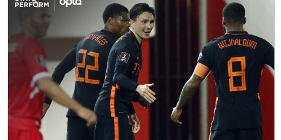 Hasil Lengkap Kualifikasi Piala Dunia 2022 - Belanda Libas Gibraltar 7-0, 4 Gol dalam 10 Menit!