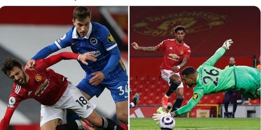 Bruno Fernandes Sebut Pemain Brighton Hampir Patahkan Kakinya Saat Rashford Cetak Gol