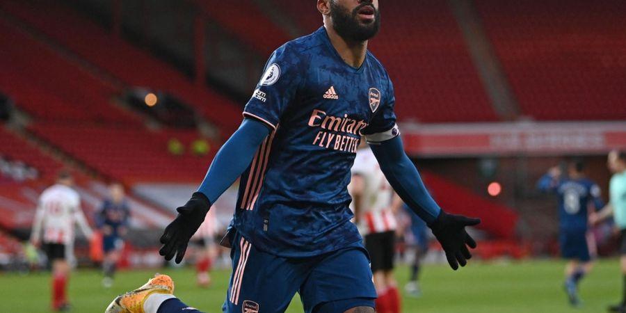Hasil Liga Inggris - Alexandre Lacazette Cetak Brace, Sheffield United Jadi Bulan-bulanan Arsenal