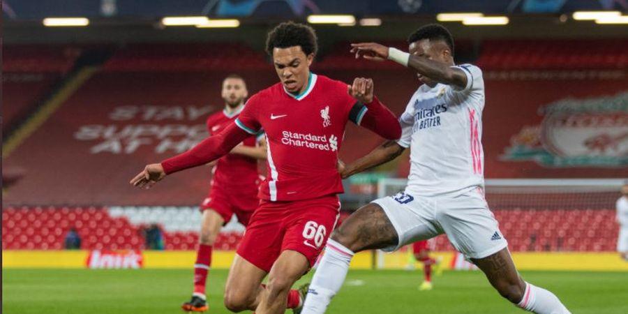 Pelanggaran Casemiro Hampir Bikin Satu Bench Ngamuk, Liverpool dan Real Madrid Sama Kuat di Babak I