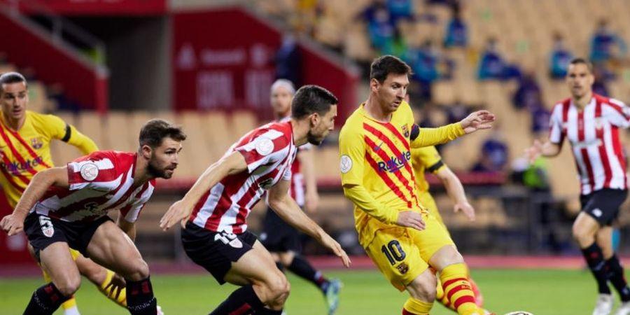 Serupa tapi Tak Sama, Gol Tak Normal Messi di Dua Final Copa del Rey