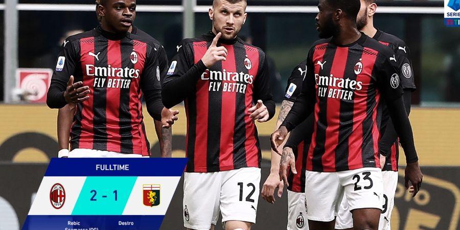 Hasil Liga Italia - Gol Bunuh Diri Bikin AC Milan Menang dan Putus Rekor Buruk Laga Kandang