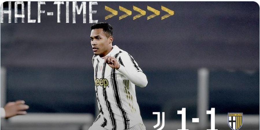 Gol Telat Alex Sandro Bikin Juventus Tahan Imbang Parma di Babak 1