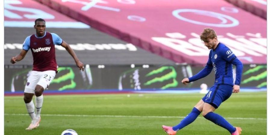 Hasil Liga Inggris - Timo Werner Terbaik, Chelsea dan West Ham Tukar Posisi