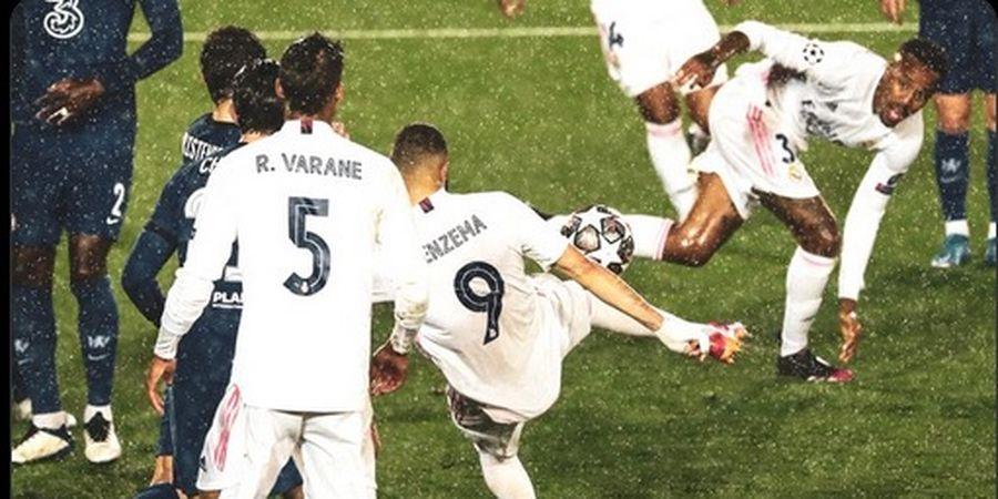 Gol Christian Pulisic Disamakan Karim Benzema dengan Tembakan Voli, Skor Imbang 1-1 di Babak I