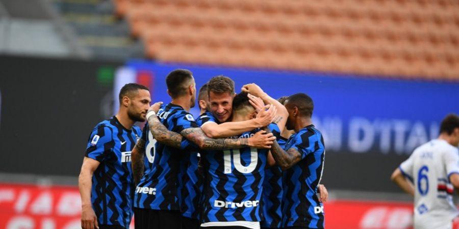 Hasil Liga Italia - Inter Milan Gasak Sampdoria, Sang Juara Lanjut Berpesta