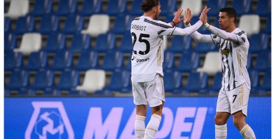 Hasil Babak I - Sassuolo Gagal Penalti, Cristiano Ronaldo Cetak Gol, Juventus Unggul 2-0