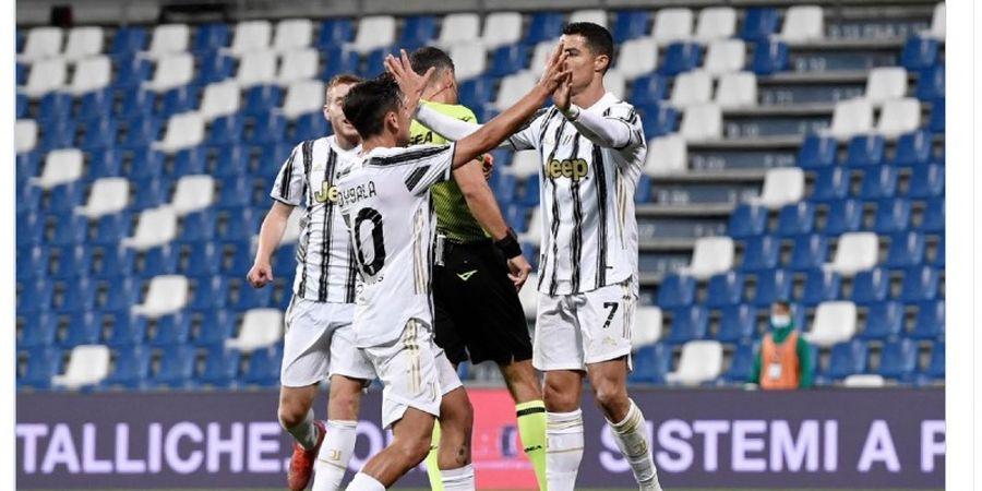 Hasil Liga Italia - Cristiano Ronaldo dan Paulo Dybala Cetak Gol ke-100, Juventus Bungkam Sassuolo