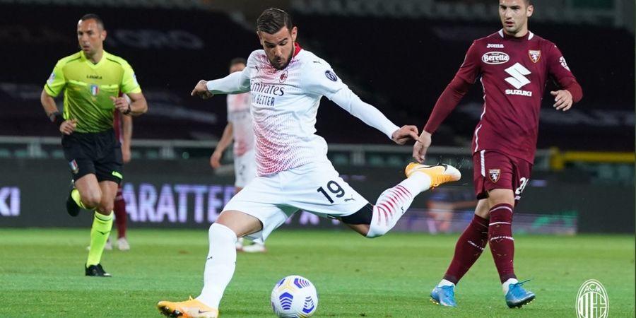Tembakan Roket Theo Hernandez Buka Jalan AC Milan Unggul 2-0 atas Torino