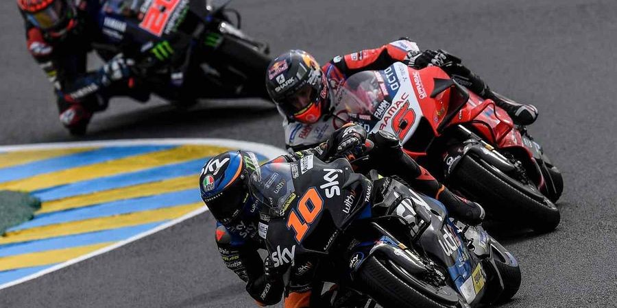 MotoGP Jerman 2021 - Para Pembalap Saling Pepet, Adik Valentino Rossi Girang