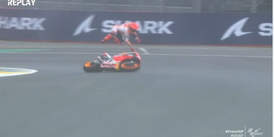 Hasil MotoGP Prancis 2021 - Giliran Marc Marquez Kena PHP Jatuh 2 Kali, Jack Miller Menang