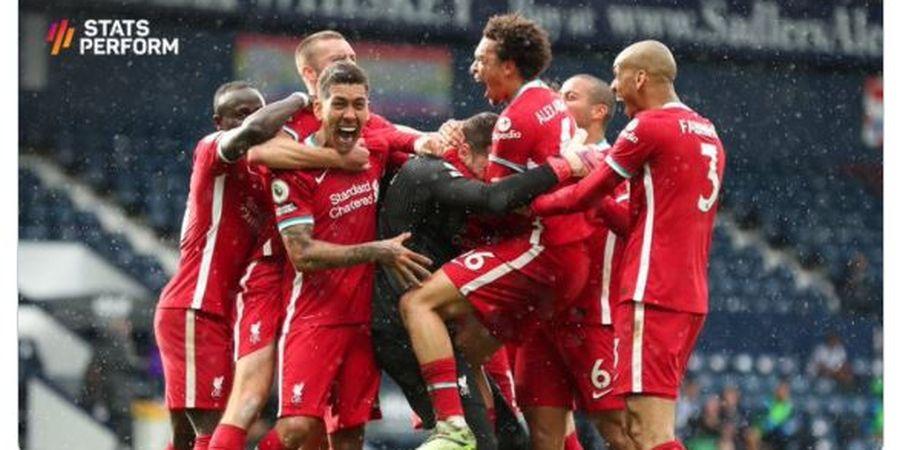 Hasil Liga Inggris - Alisson Becker Cetak Gol Menit 95, Liverpool Taklukkan West Brom 2-1