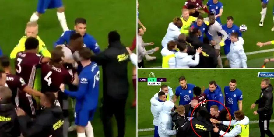 Pemain Chelsea Hilang Kendali Saat Bek Leicester yang Hina Logo Klub Ikut Campur