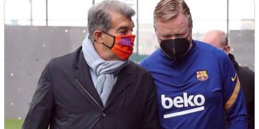 Laporta Kunjungi Ruang Ganti Barcelona Jelang Lawan Bayern Muenchen, Takut Tragedi 2-8 Terulang?
