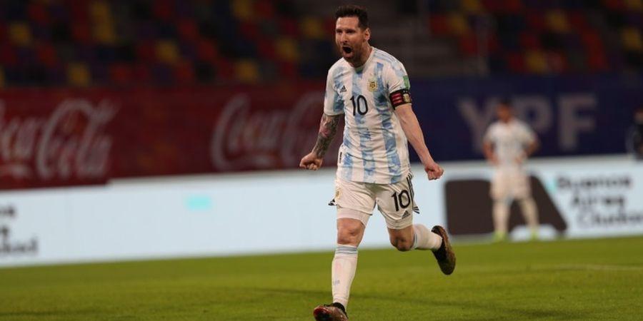 Sadis, Gocekan Lionel Messi Bikin Bek Uruguay Keserimpet