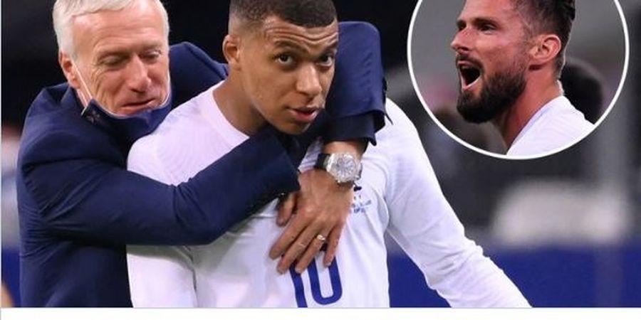 Timnas Prancis Diterpa Isu Keretakan Hubungan Mbappe dan Giroud Jelang Piala Eropa 2020