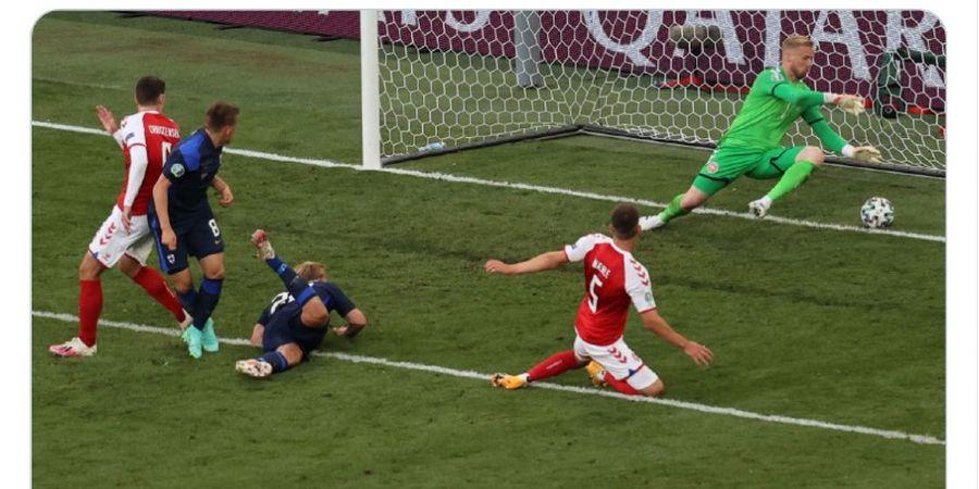 Hasil Lengkap Piala Eropa 2020 - Insiden Robohnya Eriksen Sempat Hentikan Laga Denmark Vs Finlandia
