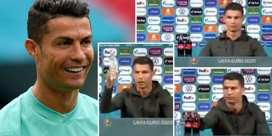 Kesal Lihat Ada Coca-Cola di Hadapannya, Ini yang Dilakukan Ronaldo