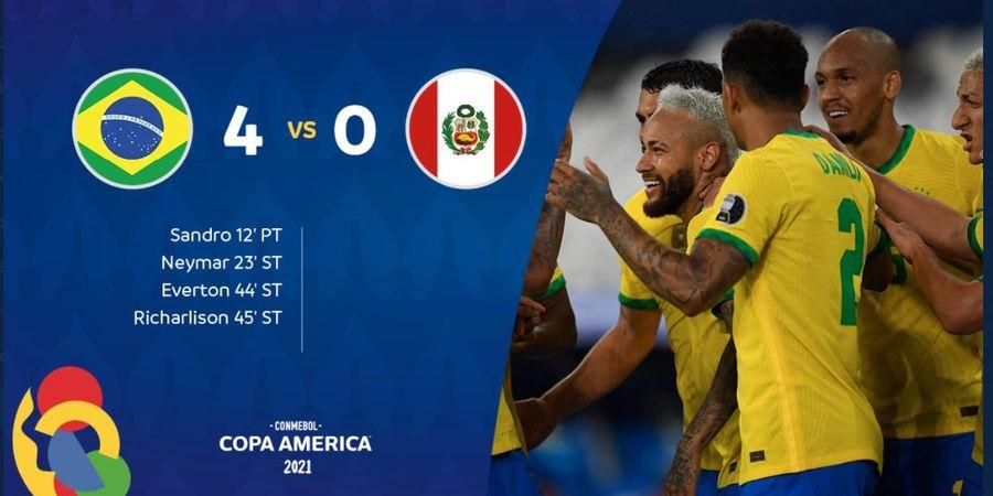Hasil Lengkap dan Klasemen Copa America - Brasil Lolos ke Perempat Final, Argentina Main Besok