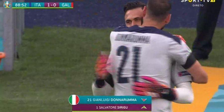 EURO 2020 - Apa Alasan Mancini Ganti Kiper Utama Timnas Italia di Menit 89?