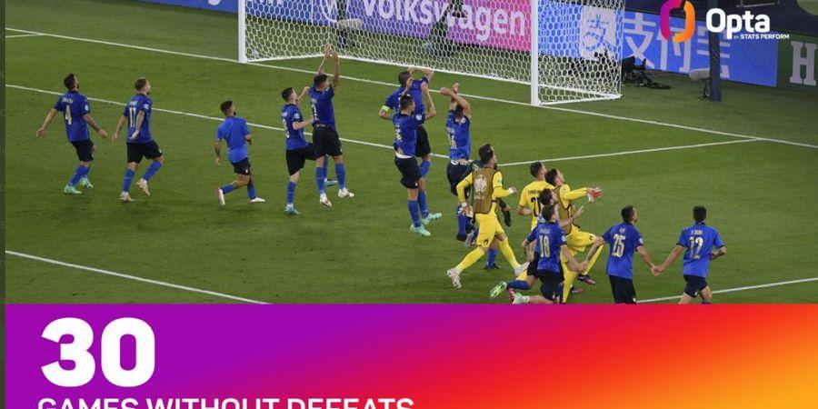 Rekor EURO 2020 - Daftar 30 Partai Nirkalah Italia, Terakhir Kali Dibikin Nangis Portugal Minus Ronaldo