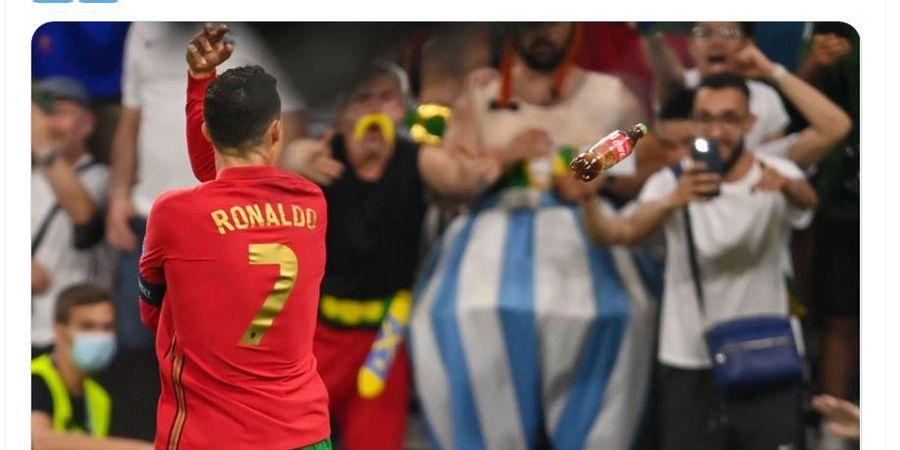 EURO 2020 - Cristiano Ronaldo Vs Coca-cola Jilid II, Perayaan Samai Rekor Ali Daei Terganggu Lemparan Botol