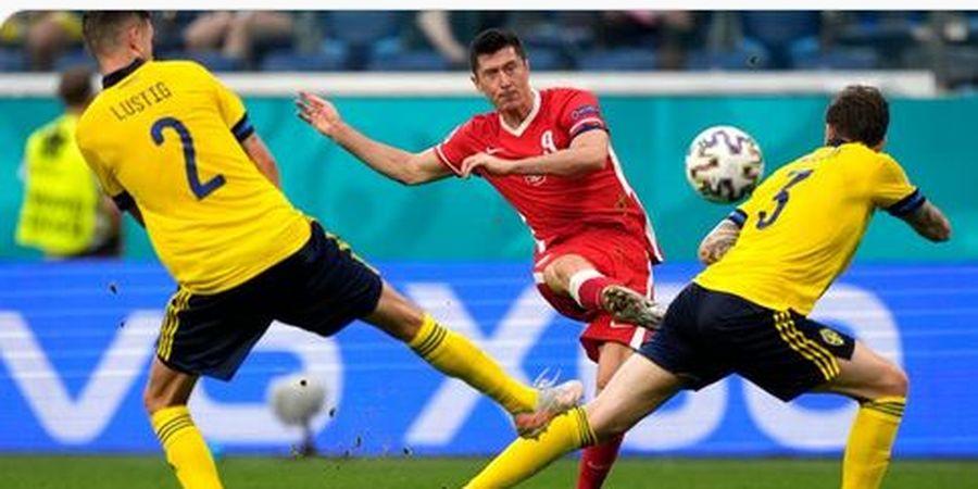 Hasil EURO 2020 - Gol Tercepat Piala Eropa Tercipta, Lewandowski 2 Kali Lipat Lebih Tajam daripada Seisi Polandia