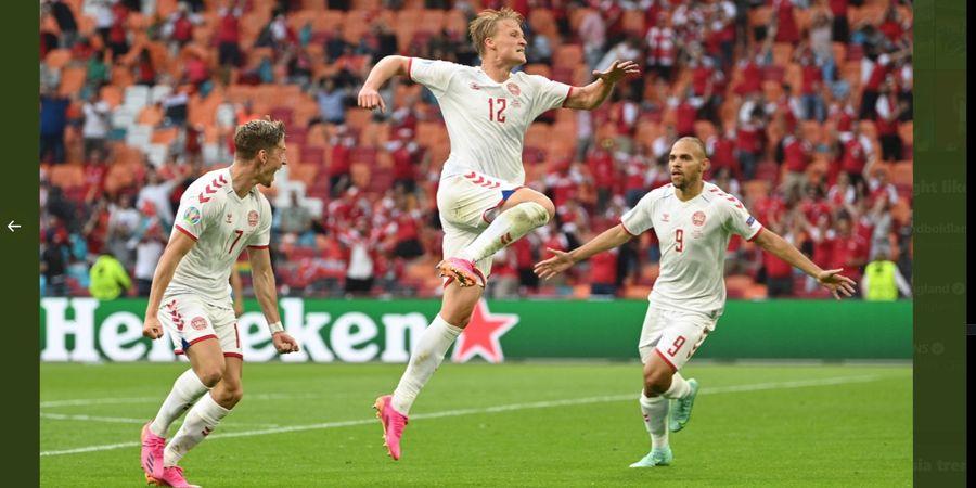 Hasil 16 Besar Euro 2020 - Kontribusi Besar Eks Rekan Ezra Walian untuk Kemenangan Telak Denmark