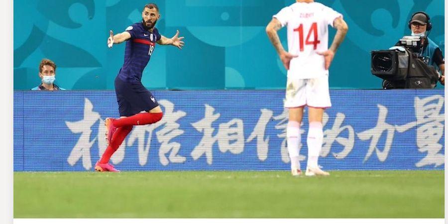 EURO 2020 - Brace ke Gawang Swiss Bikin Karim Benzema Sejajar Zinedine Zidane
