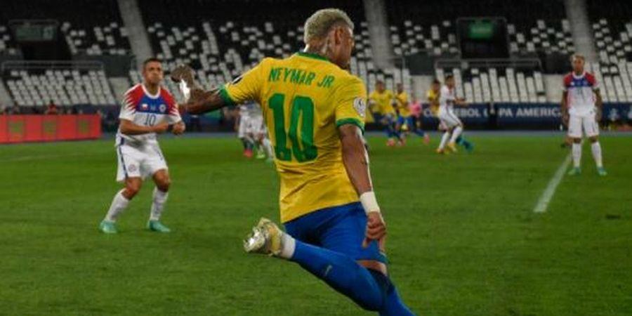 Copa America 2021 - Brasil Masih Imbang dengan Cile, Tendangan Kungfu Firmino Salah Sasaran, Thiago Silva Dibikin Bingung