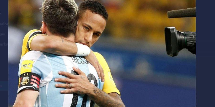 Mengharukan, Neymar dengan Gagah Datangi Lionel Messi Usai Menangis di Final Copa America 2021