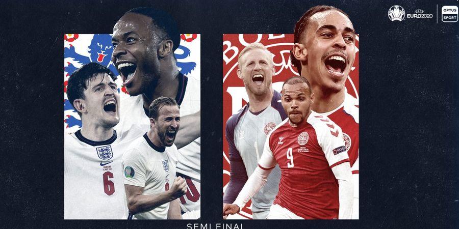 Link Live Streaming Semifinal EURO 2020 - Duel Sengit Inggris vs Denmark, Akses Mola dari BolaSport.com