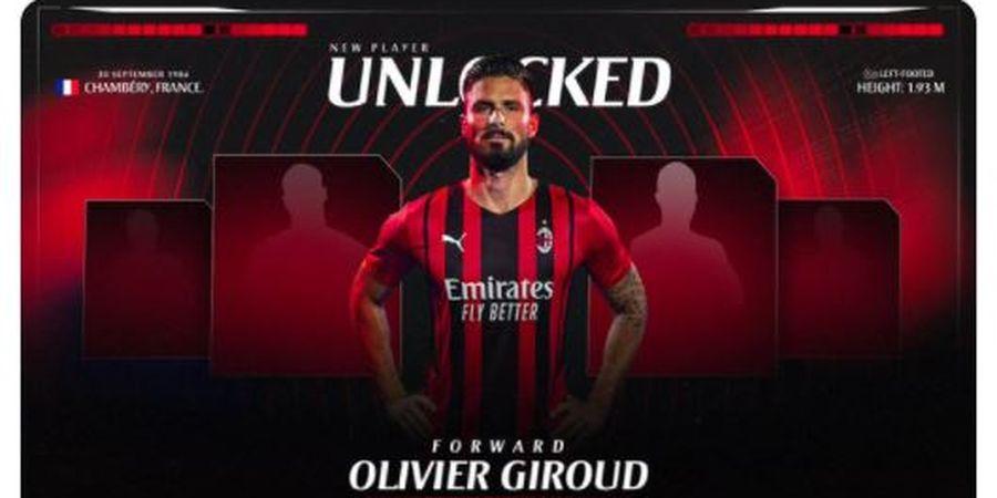 RESMI - Olivier Giroud Gabung AC Milan, Dipuji Mantan Rekan Setim