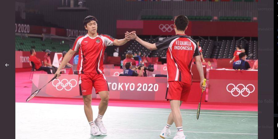 Hasil Bulu Tangkis Olimpiade 2020 - Buat India Kewalahan, Marcus/Kevin Lolos ke Perempat Final