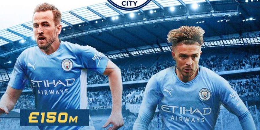 Man City Dapat Jack Grealish dan Harry Kane, Premier League 2021-2022 Tak Perlu Ada