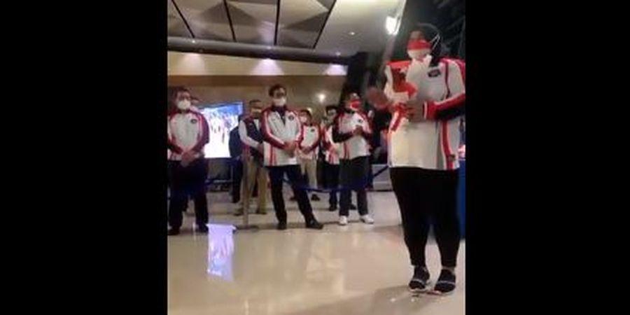 Olimpiade Tokyo 2020 - Dugaan Body Shaming kepada Nurul Akmal Warnai Penyambutan Rombongan Tim Indonesia di Bandara