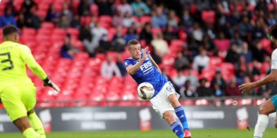 Community Shield - Tembakan Jamie Vardy Kena Tiang, Leicester Vs Man City Sama Kuat