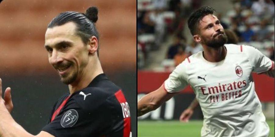 Pelatih AC Milan Tak Tutup Pintu Duetkan Striker Veteran, Giroud-Ibrahimovic