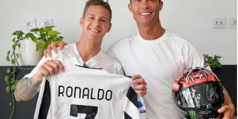 Main-main ke Tempat Latihan Juventus, Fabio Quartararo Girang Ketemu Cristiano Ronaldo