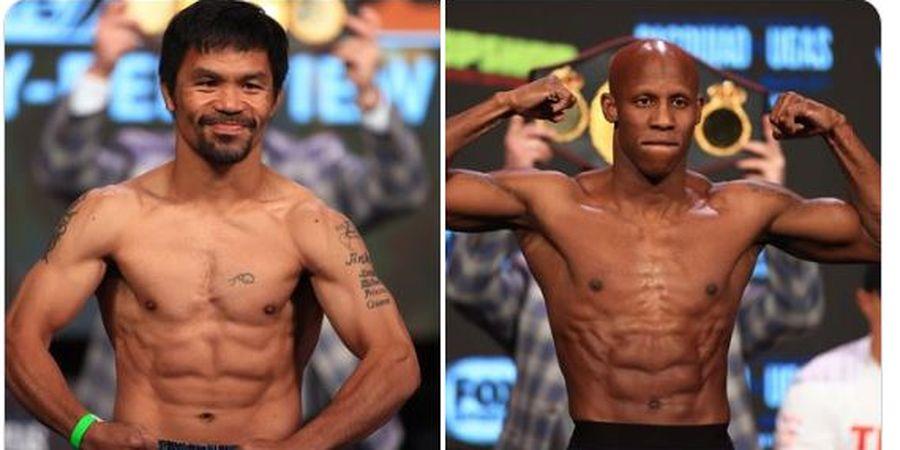 Hasil Tinju Dunia - Manny Pacquiao Keok, Gelar Juara WBA Tetap Milik Yordenis Ugas