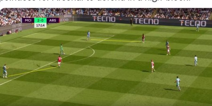 Momen Ederson Moraes Mainkan Bola 27 Detik dan Pemain Arsenal Malas-malasan Jadi Viral