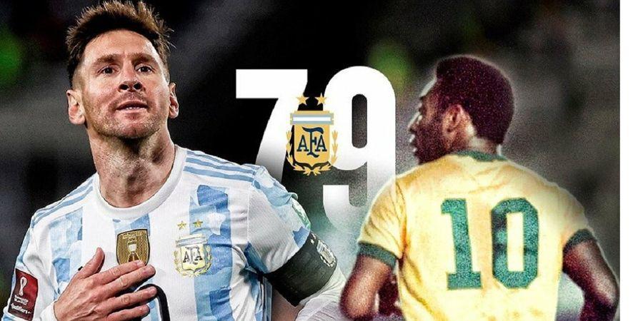 Fans Senang Messi Balas Komentar Kejam Pele dengan Gol Kaki Kanannya